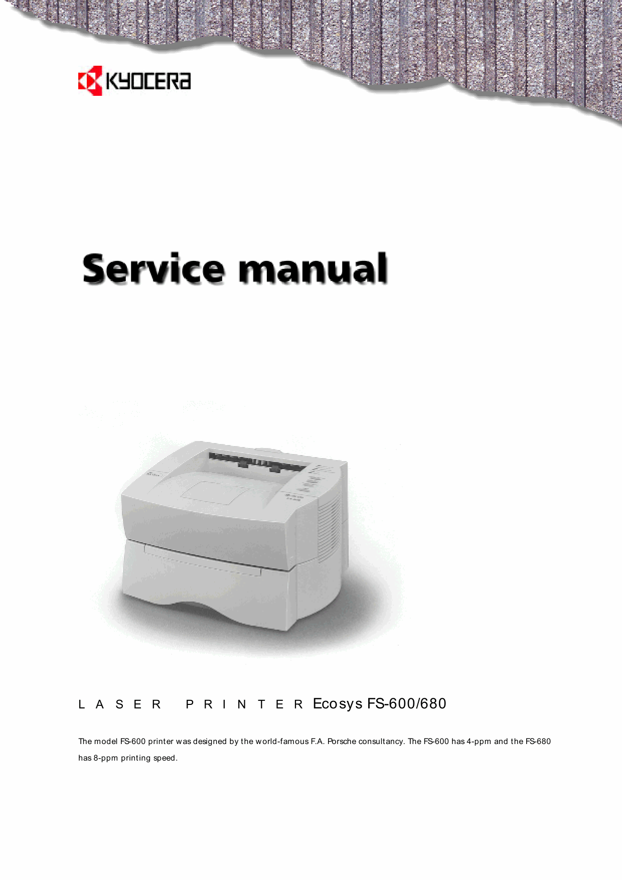 KYOCERA LaserPrinter FS-600 680 Parts and Service Manual-1